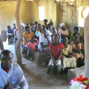 10. Podczas Mszy św. w parafii w Mumbwa.