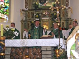O. J. Pawłowski SJ podczas Mszy św.