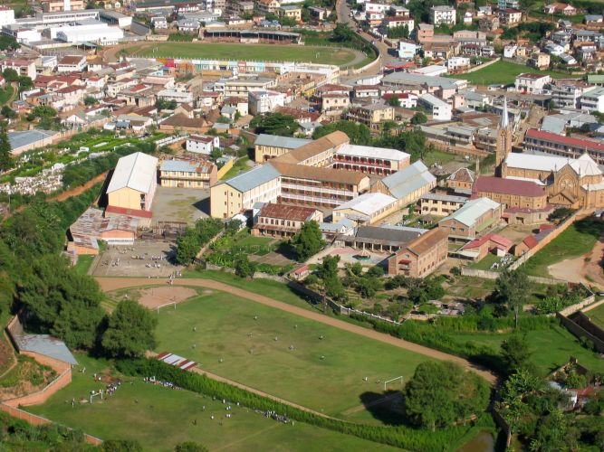 Fianarantsoa, widok College SFX
